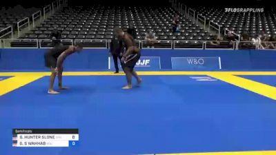GABRIEL HUNTER SLONE vs GABE S WAHHAB 2021 World IBJJF Jiu-Jitsu No-Gi Championship