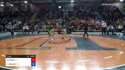 101 lbs Final - Nina Pham, Wayland Baptist vs Ivy Navarro, Providence