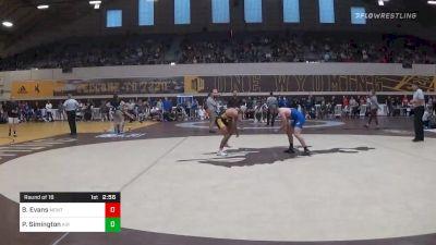 Match - Brent Evans, Montana State-Northern vs Parker Simington, Air Force