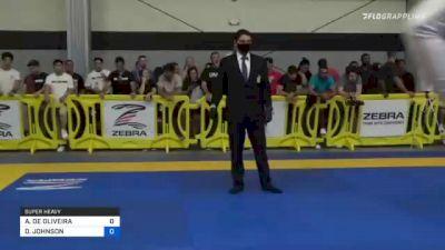 ARNALDO DE OLIVEIRA vs DEVHONTE JOHNSON 2021 Pan IBJJF Jiu-Jitsu No-Gi Championship