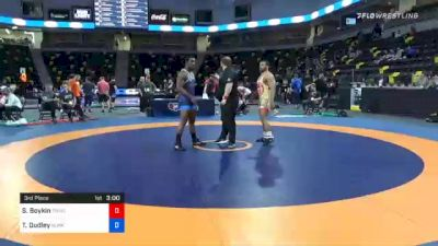 92 kg 3rd Place - Scottie Boykin, TMWC/ Spartan Combat RTC vs Timothy Dudley, Sunkist Kids Wrestling Club