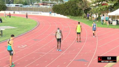 Men's 800m, Heat 1 - Izaic Yorks 1:46!
