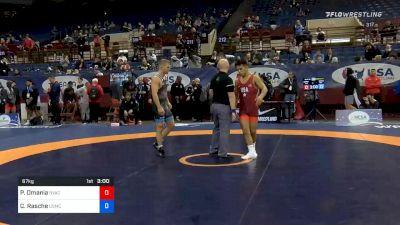 67 kg Prelims - Peyton Omania, New York Athletic Club vs Colton Rasche, Marines