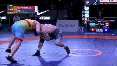125 kg Amarveer DHESI, CAN vs Yusup BATIRMURZAEV, KAZ