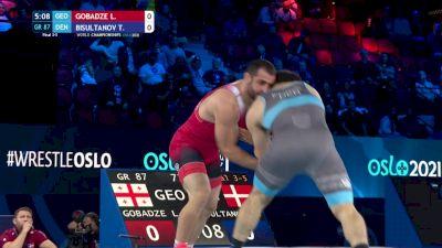 87 kg Final 3-5 - Lasha Gobadze, Georgia vs Turpan Bisultanov, Denmark