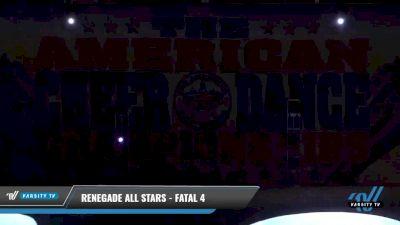 Renegade All Stars - Fatal 4 [2021 L4 Senior - D2 - Small Day 1] 2021 The American Celebration DI & DII