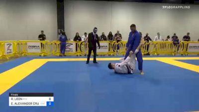 RAMIRO LEON vs ELDER ALEXANDER CRUZ 2020 Atlanta International Open IBJJF Jiu-Jitsu Championship