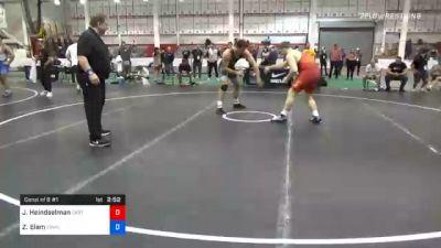 125 kg Consolation - Joshua Heindselman, Oklahoma Regional Training Center vs Zach Elam, Tiger Style Wrestling Club