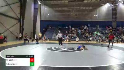 60 lbs Semifinal - Wyatt Cash, Brookwood Broncos Youth Wrestling vs Tyler Downey, Banks County USA Wrestling