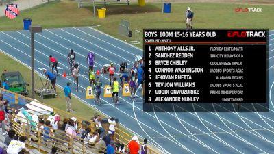 Boys' 100m, Final - Age 15-16