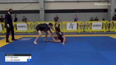 ENRIQUE D. GALARZA vs STEVEN J. PATTERSON 2021 Pan IBJJF Jiu-Jitsu No-Gi Championship