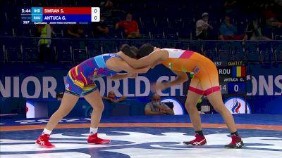 50 kg Qualif. - Simran Simran, IND vs Georgiana Antuca, ROU