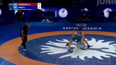 97 kg Final 3-5 - Arkyt Orozbekov, Kyrgyzstan vs Braxton James Amos, United States