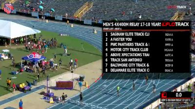Boys' 4x400m Relay, Finals 6 - Age 17-18