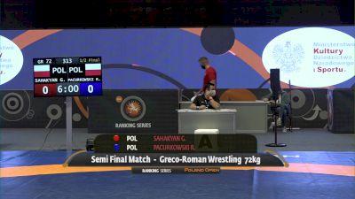 72kg Semi-Final - Gevorg Sahakyan, POL vs Roman Pacurkowski, POL