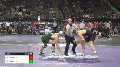 157 lbs Quarterfinal - Kaleb Young, Iowa vs Zac Carson, Ohio