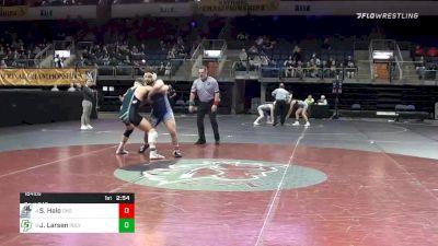 184 lbs 3rd Place - Sione Halo, Grays Harbor College vs Jared Larsen, California Polytechnic University WC
