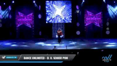 Dance Unlimited - D. U. Senior Pom [2021 Senior - Pom - Small Day 2] 2021 JAMfest: Dance Super Nationals