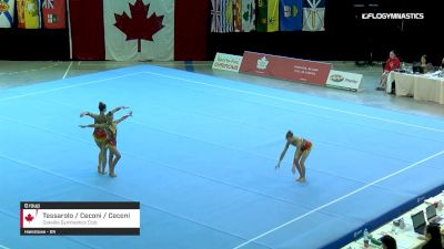 Tessarolo / Ceconi / Ceconi - Group, Oakville Gymnastics Club - 2019 Canadian Gymnastics Championships - Acro