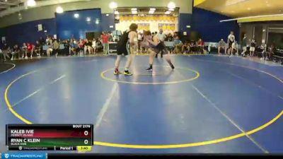 182 lbs Champ. Round 1 - Kaleb Ivie, Merritt Island vs Ryan C Klein, Black Hive