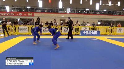 THIAGO AUGUSTO ARAUJO MACEDO vs JOSHUA ANTHONY CISNEROS 2020 Austin International Open IBJJF Jiu-Jitsu Championships