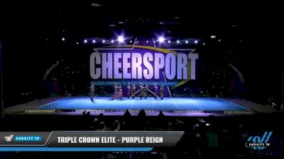 Triple Crown Elite - PURPLE REIGN [2021 L2 Youth - D2 - Small - B Day 1] 2021 CHEERSPORT National Cheerleading Championship