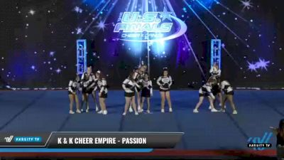 K & K Cheer Empire - Passion [2021 L1 - CheerABILITIES - Novice Day 2] 2021 The U.S. Finals: Phoenix