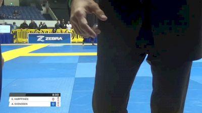 A. SVENDSEN vs E. KARPPINEN World IBJJF Jiu-Jitsu No-Gi Championships