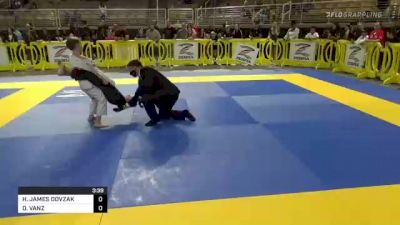 HUNTER JAMES DOVZAK vs DAWSON VANZ 2021 Pan Kids Jiu-Jitsu IBJJF Championship