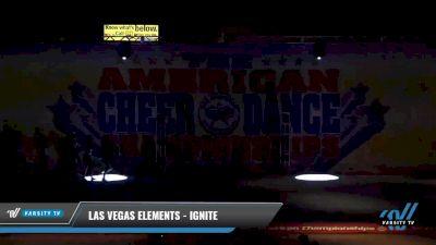 Las Vegas Elements - Ignite [2021 L1 Senior - D2 - Small Day 2] 2021 The American Celebration DI & DII
