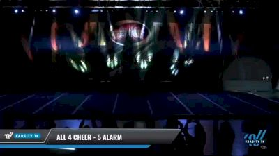 All 4 Cheer - 5 Alarm [2021 L5 Senior Coed - D2 Day 2] 2021 ACP Cash Bash Championship
