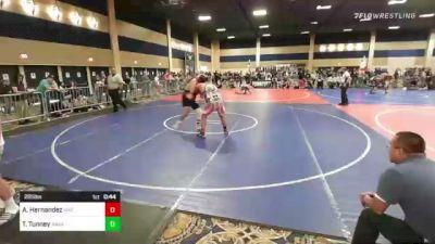 285 lbs Consi Of 8 #2 - Alejandro Hernandez, Mat Warriors vs Thurstan Tunney, Navajo Nation