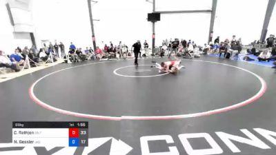 66 kg 3rd Place - Caleb Rathjen, Sebolt Wrestling Academy vs Nolan Gessler, JK Squad