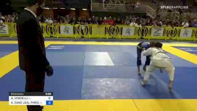 ALDO VERDELLI vs KADEN ZANE LEAL PIRES 2021 Pan Kids Jiu-Jitsu IBJJF Championship
