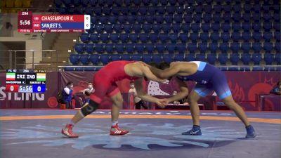 92 kg Quarterfinal - Sanjeet SANJEET, IND vs Kamran GHASEMPOUR, IRI