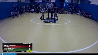 103 lbs Semifinal - Natalie Duran, Gladiator vs Kealonie Vega, Attack Wrestling