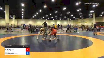 57 kg Semifinal - Rayvon Foley, Unattached vs Ramazan Attasauov, Cyclone Regional Training Center C-RTC