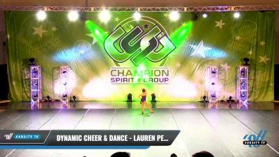 Dynamic Cheer & Dance - Lauren Peterson [2021 Mini - Solo - Jazz Day 1] 2021 CSG Dance Nationals