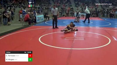 64 lbs Consolation - Eric Terrazas, Newcastle Youth Wrestling vs Michael Mcgee, East Tulsa Cardinals