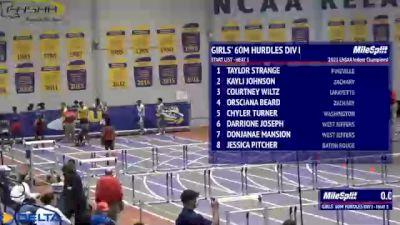 High School Girls' 60m Hurdles Division 1, Finals 1