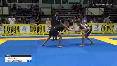 TREY CARTER vs THYAGO CEZAR MARTINS 2021 Pan IBJJF Jiu-Jitsu No-Gi Championship