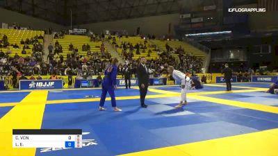 CHARLOTTE VON BAUMGARTEN vs LAURAH HALLOCK 2019 World Jiu-Jitsu IBJJF Championship