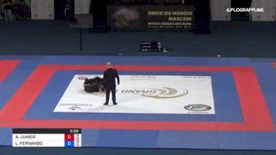 ADEMIR JUNIOR vs LUIZ FERNANDO 2018 Abu Dhabi Grand Slam Rio De Janeiro