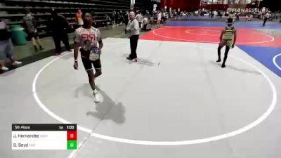 73 lbs 5th Place - Joshuah Hernandez, Cody WC vs Gator Boyd, Triple Threat WC