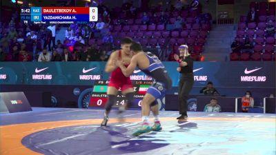 86 kg Round Of 16 - Azamat Dauletbekov, Kazakhstan vs Hassan Yazdanicharati, Iran
