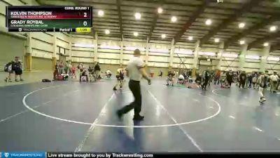 90 lbs Cons. Round 1 - Kolvin Thompson, Sanderson Wrestling Academy vs Grady Roybal, Cougars Wrestling Club
