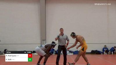 197 lbs Prelims - Ramon Rodriguez, Appalachian State vs Khalil Belk, Truett-McConnell University