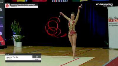 Alexys Purdie - Ball, Manitoba - 2019 Canadian Gymnastics Championships - Rhythmic