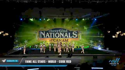 FAME All Stars - Midlo - Code Red [2021 L3 Senior - Small Day 2] 2021 Cheer Ltd Nationals at CANAM
