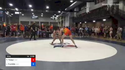 92 kg Quarterfinal - Trevor Tinker, Central Coast Regional Training Center vs Isaac Trumble, Wolfpack Wrestling Club